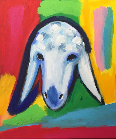 Menashe Kadishman, 'Cloudy Sheep', ca. 2000