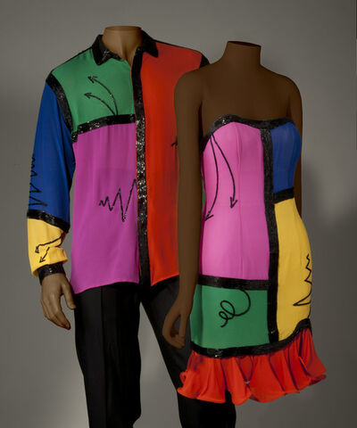 Fabrice Simon, 'Cocktail dress and men's coordinating dress shirt', 1990