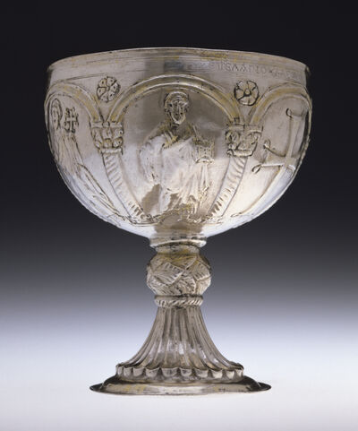 'Chalice with Apostles Venerating the Cross', Early 7th century