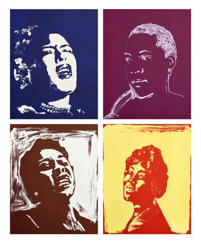 Thomas Schütte, 'Blues Women: Billie Holiday; Bessie Smith; Dinah Washington; Mamie Smith', 2018