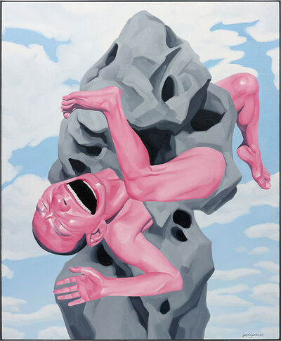 Yue Minjun, 'Untitled (Magritte Stone)', 2006