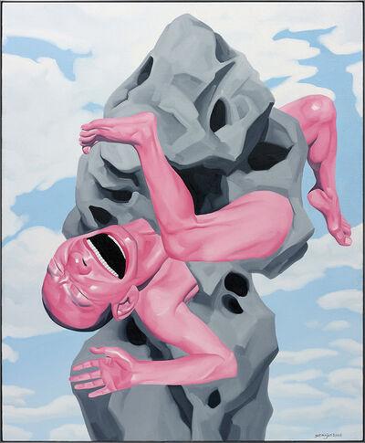 Yue Minjun, 'Untitled (Magritte Stone)', 2006
