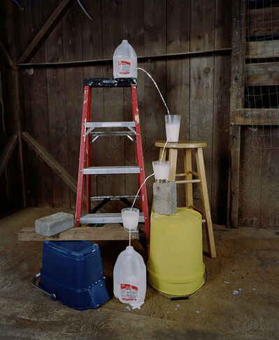 Adam Ekberg, 'Transferring a gallon of milk from one container to another', 2014