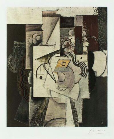 Pablo Picasso, 'Tete de jeune fille au chapeau garni de raisins', 1913