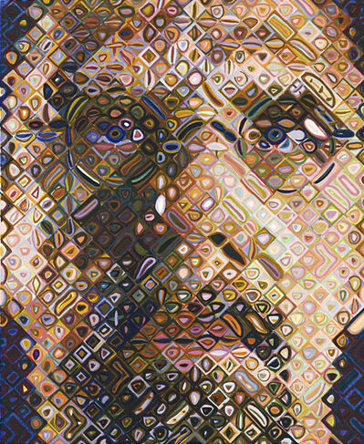 Chuck Close, 'Self-Portrait Woodcut', 2009