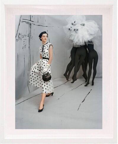 Horst P. Horst, 'Dress by Mollie Parnis, Background by Marcel Vertes, Small: Framed ', 1953