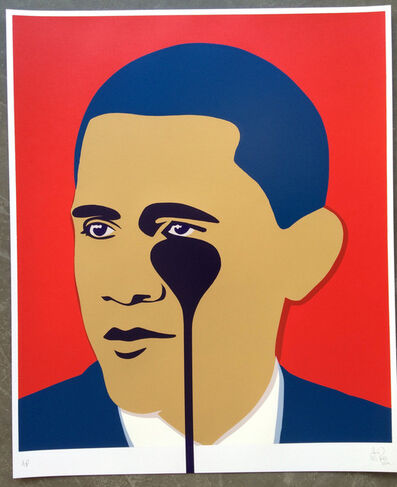 Pure Evil, 'Crying Obama (Red)', 2016