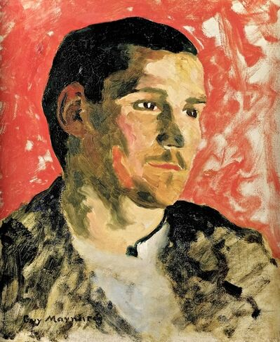 Guy Ferris Maynard, 'Portrait of a young man in Profile on a Red Ground', ca. 1891