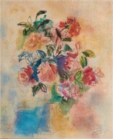 Jean Dufy, 'Bouquet de roses dans un vase', 1925