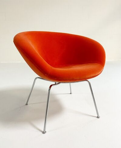 Arne Jacobsen, 'Pot Chair, Restored in Loro Piana Velvet', c. 1960s