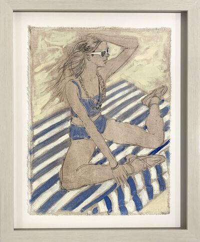 William Acosta, 'Striped Beach Blanket', 2017