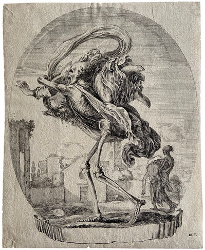Stefano Della Bella, 'Death carrying off a young woman', ca. 1648