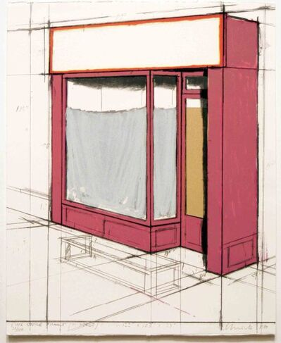 Christo, 'Pink Store Front, Project from Marginalia', 1980