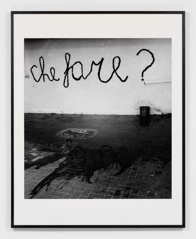 Claudio Abate, 'Mario Merz. Che Fare?', 1969