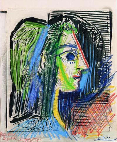 Pablo Picasso, 'Profil de femme (Jacqueline) (Profile of Woman, Jacqueline)', 1969