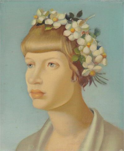 Tamara de Lempicka, 'Jeune Fille Couronnee', ca. 1954