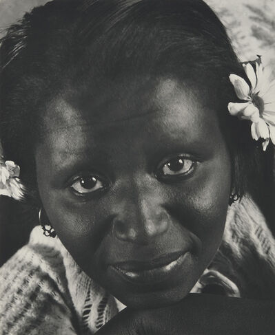Consuelo Kanaga, 'Frances (with Daisies)', 1936