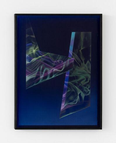 Maude Corriveau, 'Lumière bleue sur fond noir', 2021