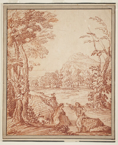 Gaspard Dughet, 'Landscape with Two Figures', 1648-1651