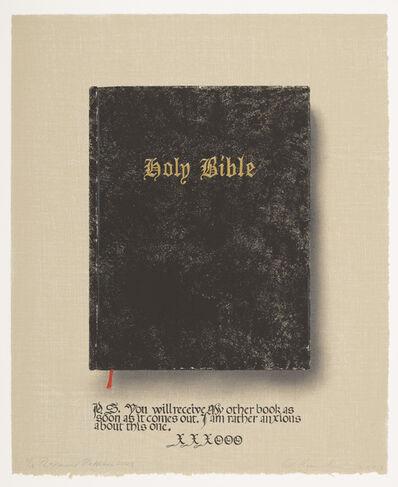 Ed Ruscha & Raymond Pettibon, 'Holy Bible (State 3)', 2003