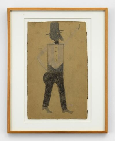 Bill Traylor, 'Pointing Man with Hat and Beard', 1939-1942