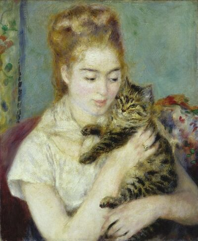 Pierre-Auguste Renoir, 'Woman with a Cat', ca. 1875
