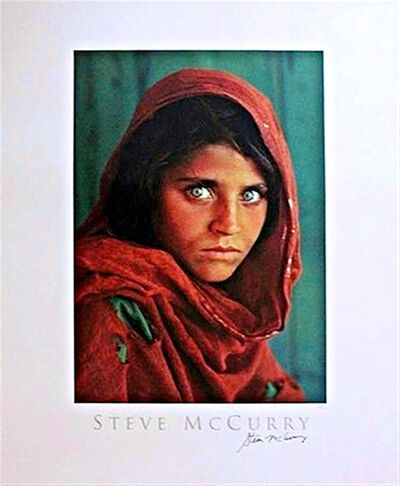 Steve McCurry, 'Sharbat Gula, Afghan Girl, Pakistan Poster (Hand Signed)', 1984