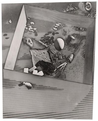 Gyorgy Kepes, 'Untitled (Vegetables, egg, apple, bread, grains, frame)', 1940