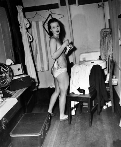 Weegee, 'Stripper in a Dressing Room', 1948