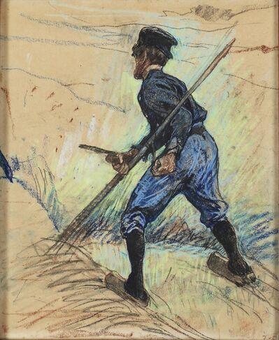 Jacobus van Looy, 'A Mower with a Scythe', ca. 1898