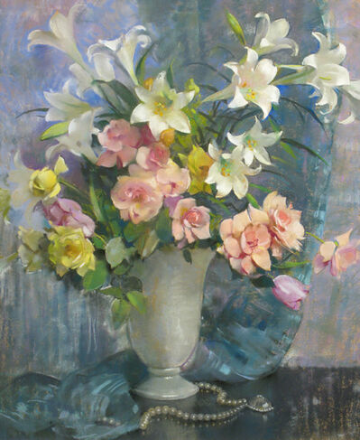 Laura Coombs Hills, 'Lilies and Roses', 19th -20th Century