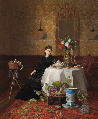 David Emile Joseph de Noter, 'Taking Tea', 1838-1892