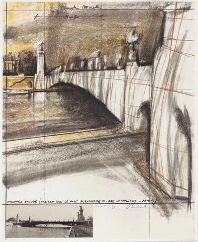 Christo, 'Wrapped Bridge, Project for Le Pont Alexandre III, Paris', 1977