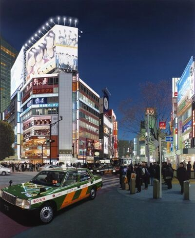 Christian Marsh, 'Shibuya Crossing at Night Tokyo'