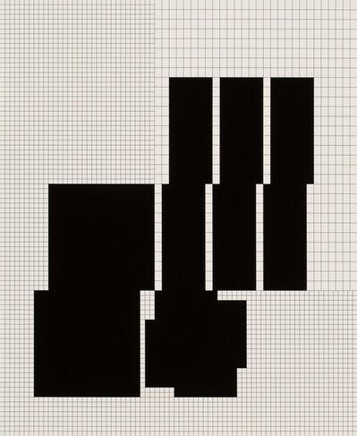 Attila Kovács, '10 daten-distributionen von koordination p3-26-1973-1977, 5th distribution', 1977