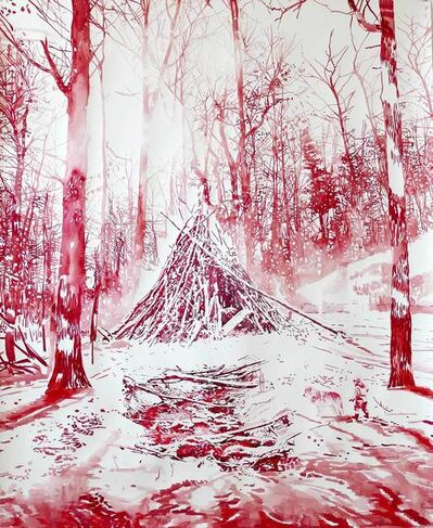 Malgosia Jankowska, 'Der Rote Wald im Winter', 2019