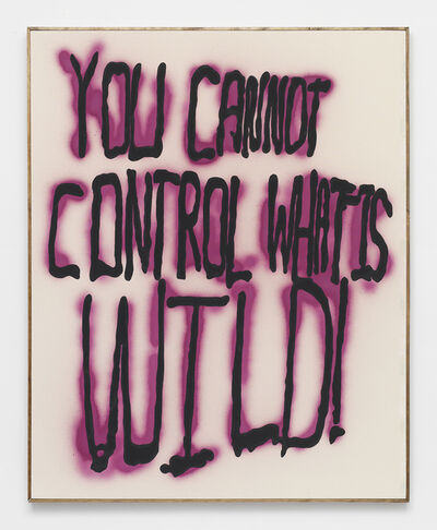 Brad Troemel, 'YOU CANNOT CONTROL WHAT IS WILD -- Oregon graffiti from ELF archive w/ Subversive STREET ART organic cold pressed beet paint (Proceeds support ELF, Greenpeace, Planned Parenthood) Support ETHICAL treatment', 2014