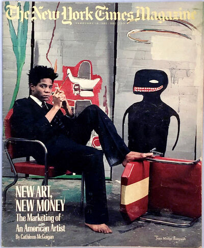 Jean-Michel Basquiat, 'Basquiat The New York Times Magazine 1985', 1985