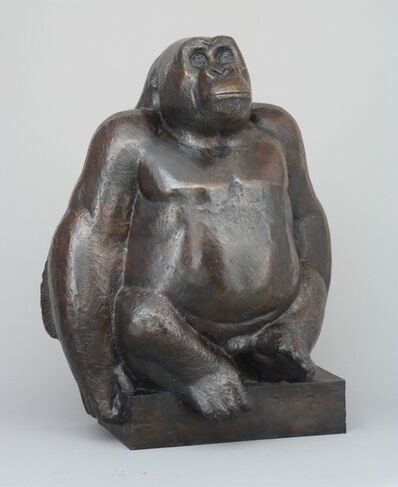 Georges-Lucien Guyot, 'A Seated Great Gorilla', ca. 1930