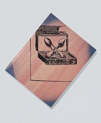 Sigmar Polke, 'Dr Pabscht het z´Schpiez s´Schpäckbschteck z´schpät bschteut', 1991