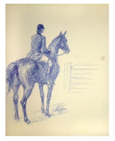 José Luis Rey Vila, 'Knight with his Horse in front of an Obstacle', 1950s