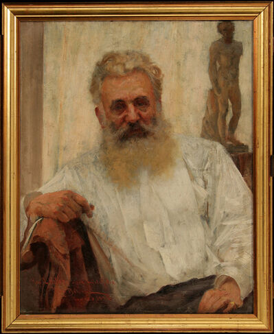 VLAHO BUKOVAC, 'Portrait of Captain Köller', 1897