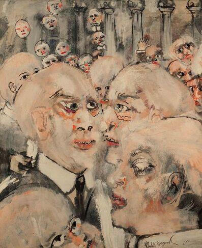 Philip Evergood, 'Caucus', 1962
