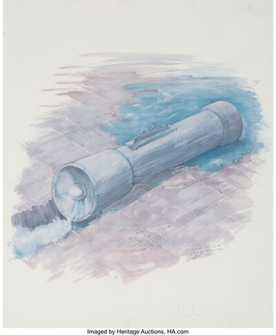 Claes Oldenburg, 'Colossal Flashlight in Place of Hoover Dam', 1982