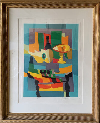 Marcel Mouly, 'Blue Still Life with Guitar', ca. 1995