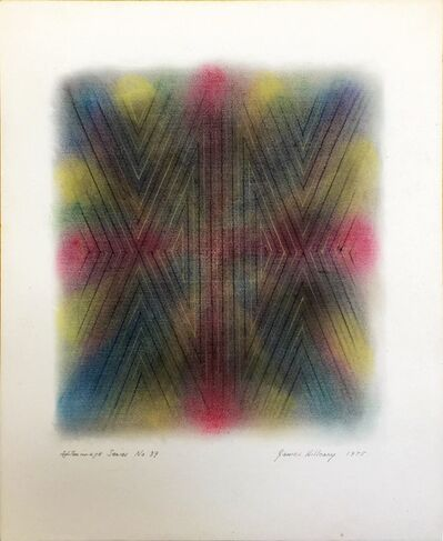James Hilleary, 'Hilleary Afterimage Series No. 39, colored pencil on paper, ', 1975