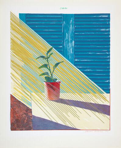 David Hockney, 'The Weather Series-Sun', 1973