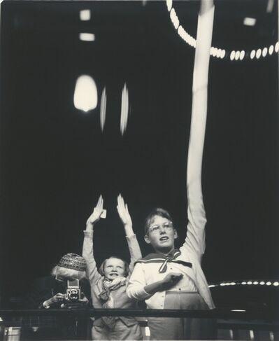 Imogen Cunningham, 'Self-Portrait with Grandchildren in Funhouse', 1955