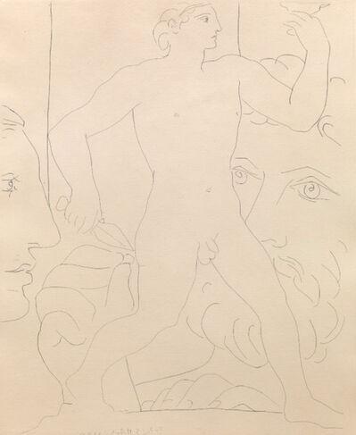 """Pablo Picasso, 'Sculpture d'un Jeune Homme à la Coupe"""" - from """"La Suite Vollard""""', 1933"""