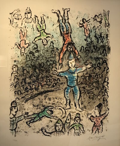 Marc Chagall, 'Acrobats', 1984